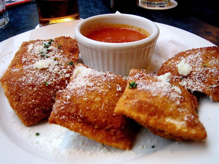 3. Toasted or fried ravioli.