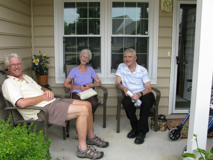 3.We gathered on the front porch to talk.