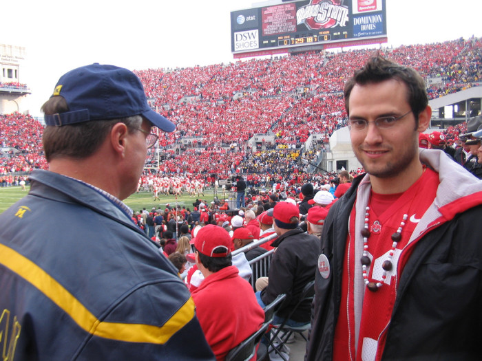 4. We (primarily) did all of our Ohio State vs. Michigan trash talk in person. Today, we post lengthy statuses or insults in 140 characters or less.