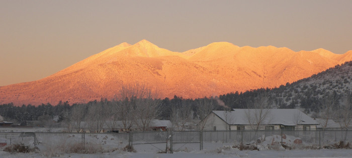 8. I love seeing landscapes at dawn in the winter. The lighting is beautiful!