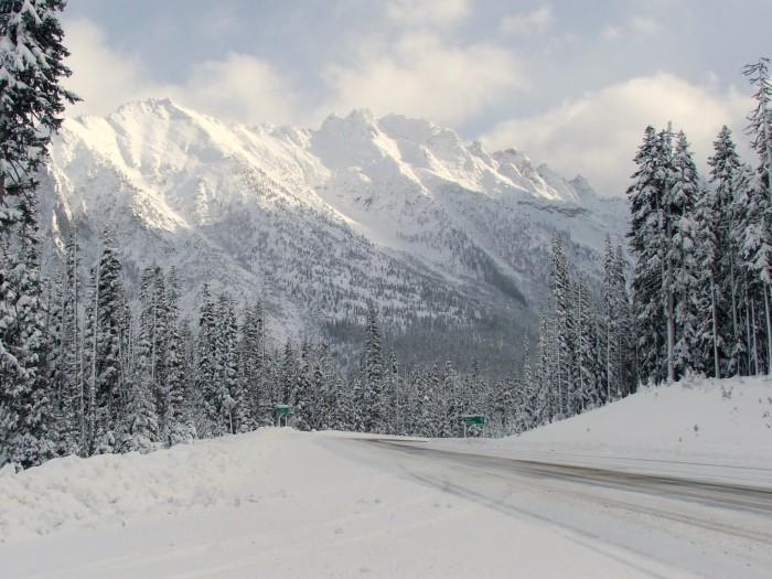 9. A wintry view from Washington Pass on the North Cascades Highway.