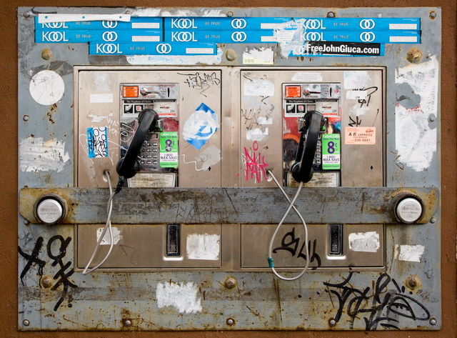 12. Finally, we had to call our friends from payphones whenever we ended up on the wrong side of town.