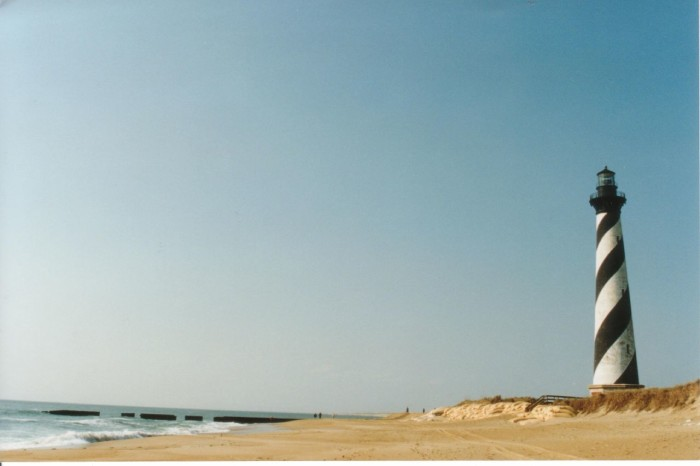 12. Cape Hatteras Lighthouse and a beautiful beach day.