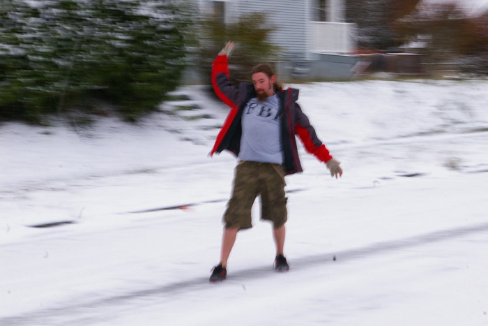 10. Why are you wearing socks with sandals and cargo shorts in the snow?