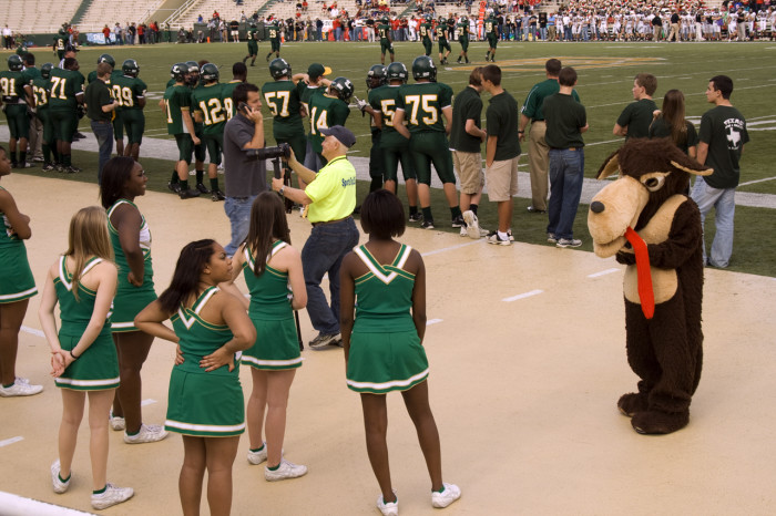 5. If you signed up for the football team or cheerleading squad, you pretty much got in without question.