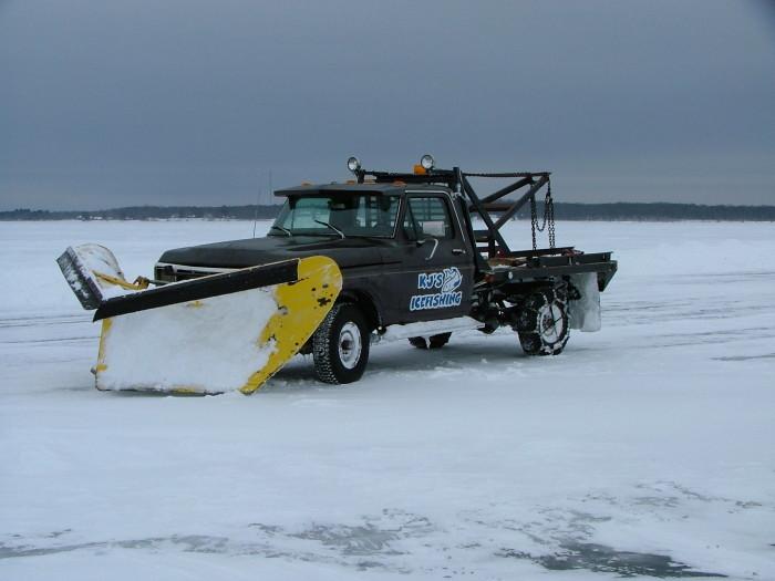 10. We drive, bike, walk, and fish on frozen water.
