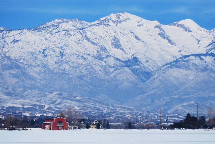 13. The mountains look even more amazing covered in snow.
