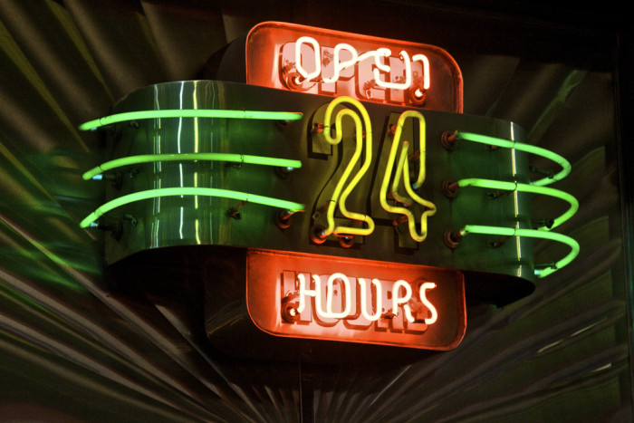 8. Every town should have at least one diner that is open 24 hours a day.