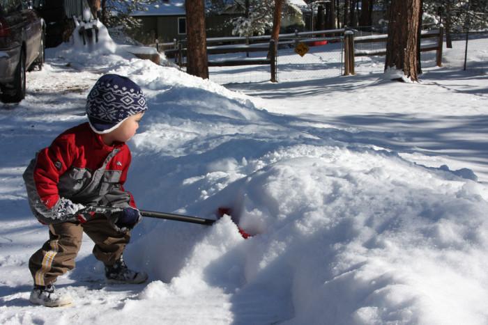 3) A snow shovel.
