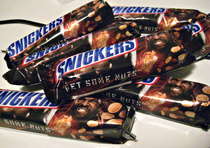 5. Plus, no one would have the satisfaction of biting into a Snicker's bar. And that's just cruel.