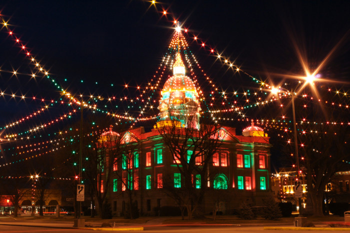 4. The beautiful, colorful holiday lights.