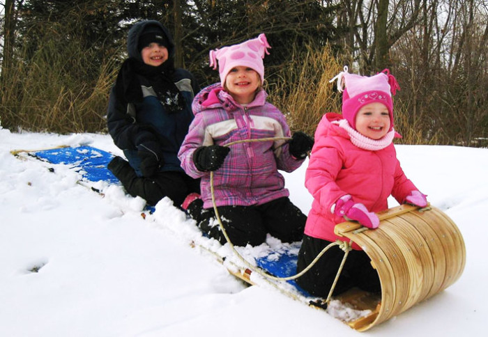 2. Sledding with the family