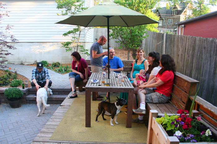 2. We had barbecues and block parties with the neighborhood.