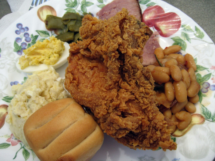8. We eat the best food all of the time because down-home, southern cookin' is a way of life.