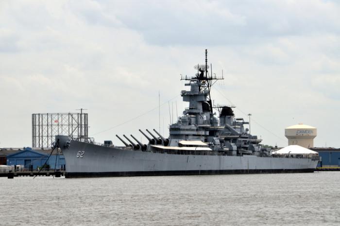 11. USS New Jersey is longer than 2 football fields.