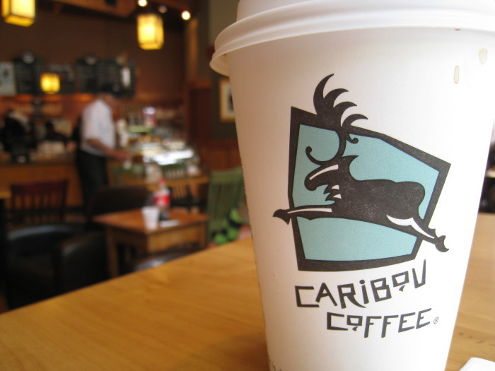 4. We get our coffee at Caribou.