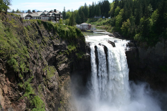 8. Enjoy a stay at the lodge/spa located right above Snoqualmie Falls.