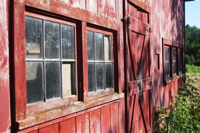 8. The beauty is in the details when it comes to some older barns. This wood and window combo is best appreciated up-close during a visit to the 41-acre River Point in Cumberland.