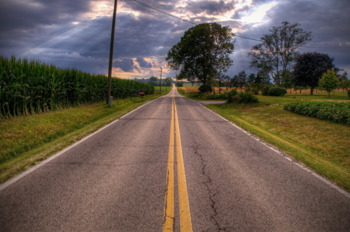 3. …and driving the back roads.