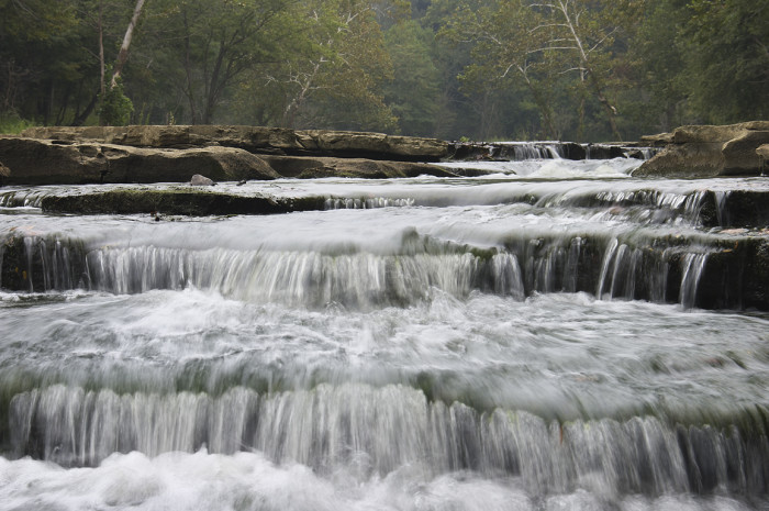 Did you know the Cataract Falls consists of two different sets of waterfalls along Mill Creek that are separated by roughly a mile?