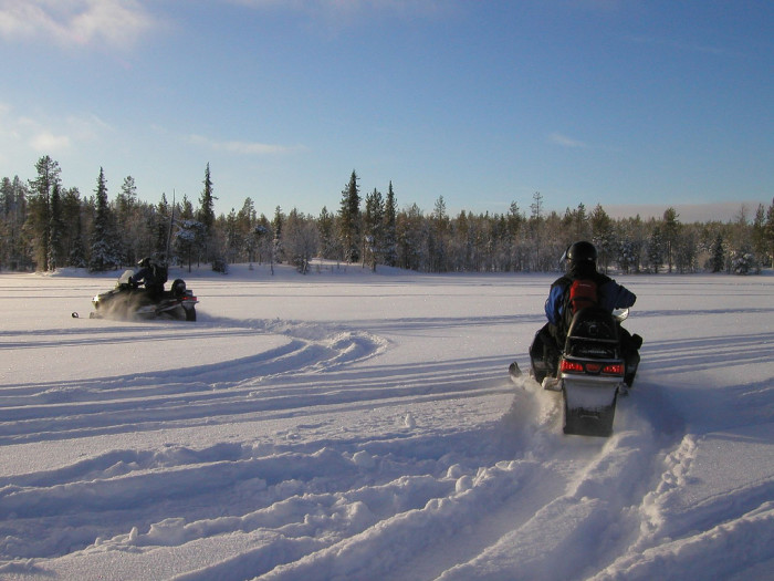 1) Snowmobiling tours.