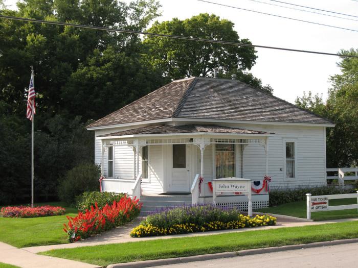2. Winterset: The birthplace of John Wayne.