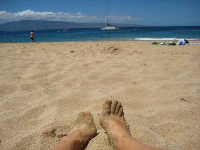 4) Sand between your toes.
