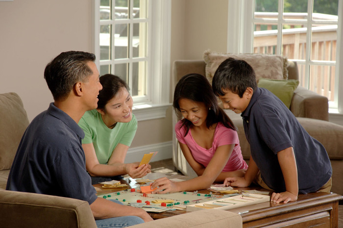 4.We had family game nights.