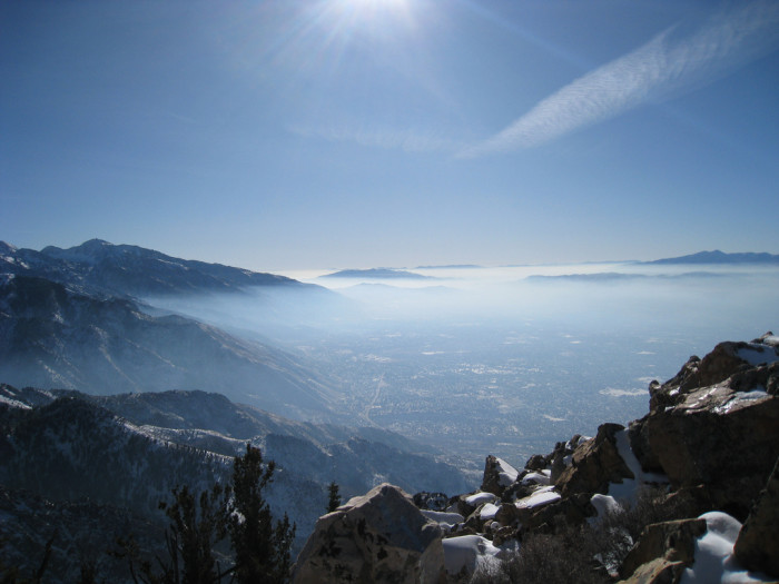 1. Trying to breathe in Utah's Inversion.