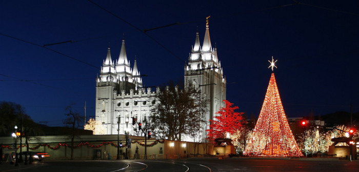 14. See the Christmas lights at Temple Square.