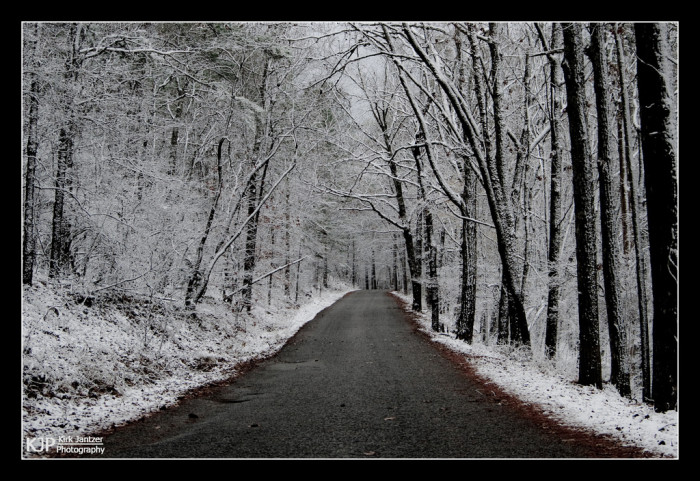 3. What a BREATHTAKING road to travel during the winter! This road travels through Oak Mountain State Park - Alabama's largest state park.