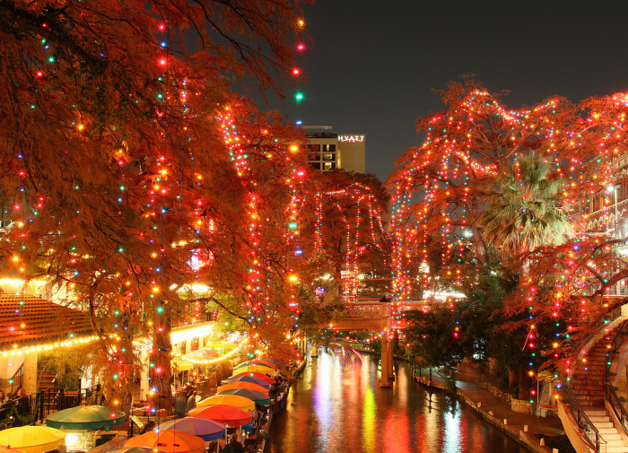 8. The Riverwalk is San Antonio is all lit up for the holidays, which makes it even more entertaining!