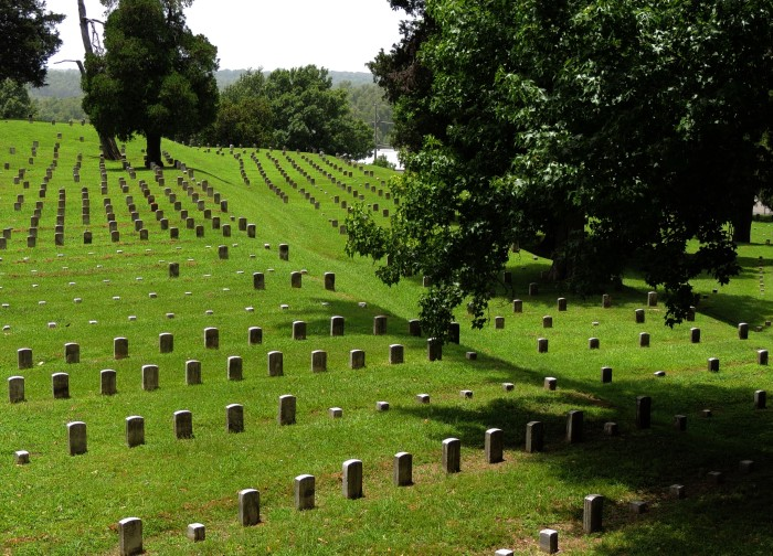 7. Vicksburg National Cemetery is second in size only to Arlington National Cemetery and is the final resting place of 17,000 Civil War Union soldiers, a number unmatched by any other national cemetery.