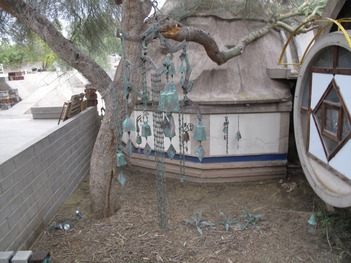 7. Finally, let's take a look at a beautiful example of a underground home you can actually visit: Paolo Soleri's Cosanti home, studio, and gallery in Paradise Valley.