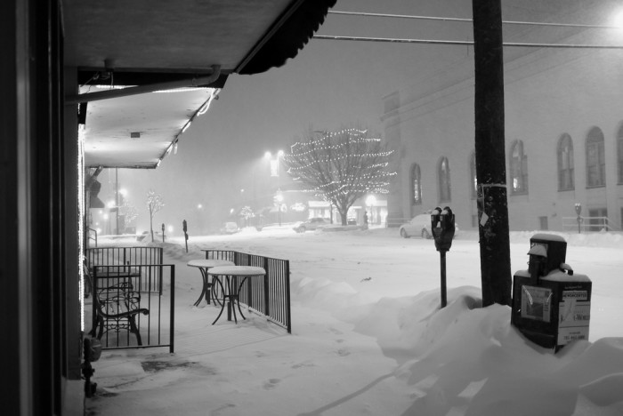 8. A cold and quiet night in Lawrence...