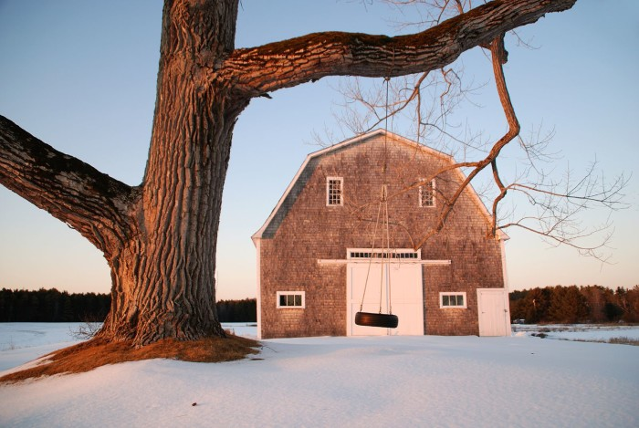 1. The perfect barn/swing combo on a bright winter day in Brunswick.