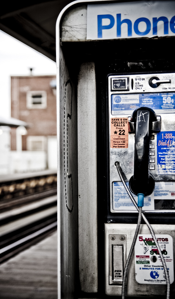 2. I believe we should immediately bring back payphones and roadside payphones.