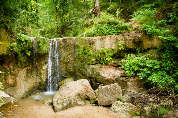4. Enjoy the waterfalls at the Clark Creek Nature Area.