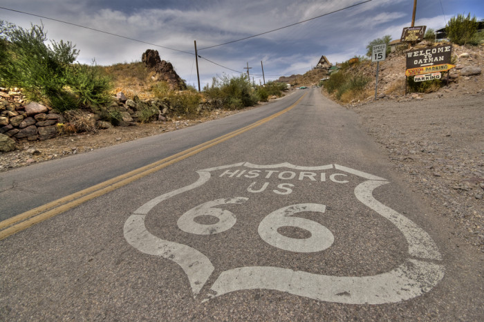 U is for US Route 66.