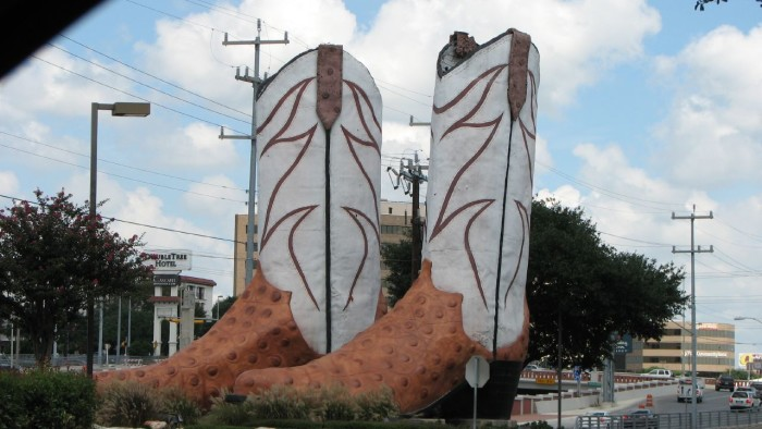 10. We build giant cowboy boots, just because we can.