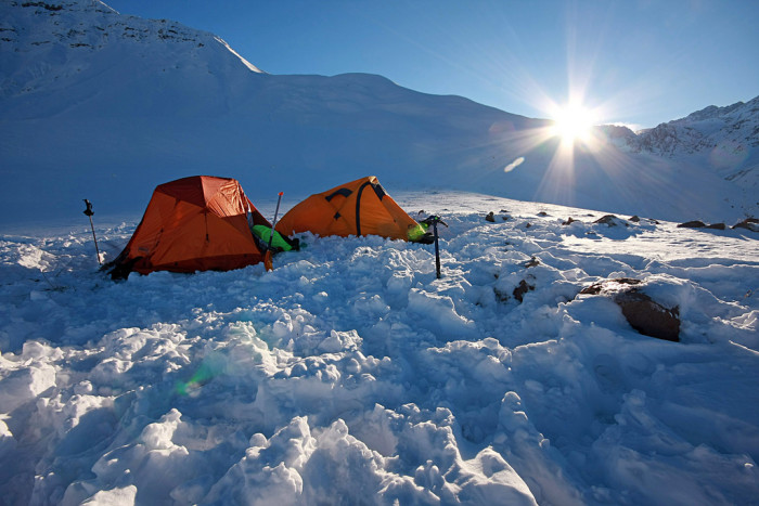 14) Winter camping!