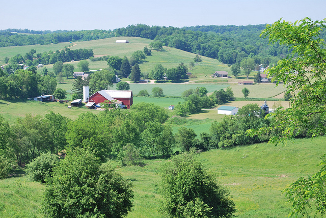 1. The rolling hills of Ohio's Amish Country: