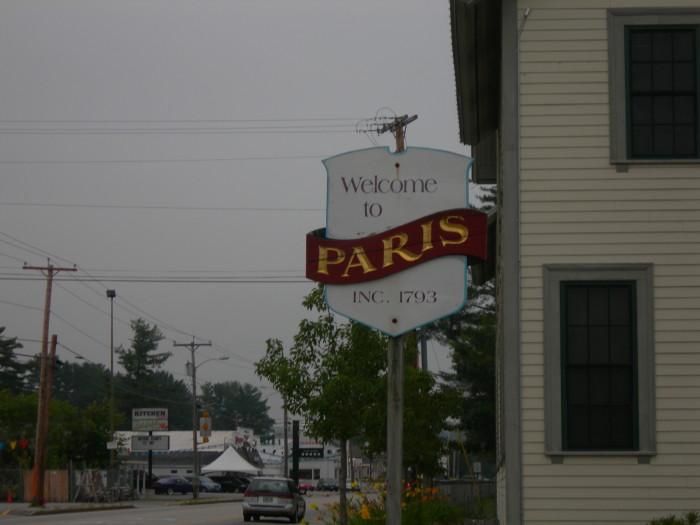 7. Paris, Maine