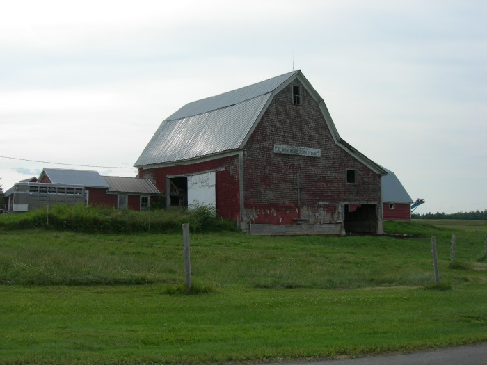 10. The Almon Henderson & Son Barn is very close to the Watson Settlement Covered Bridge near Littleton, which we recently highlighted in our article about Maine's bridges.