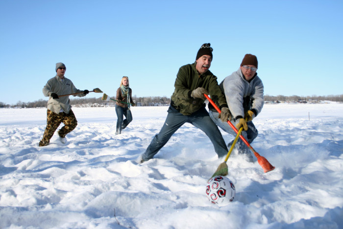 9. And family games get that much better on the snow and ice.