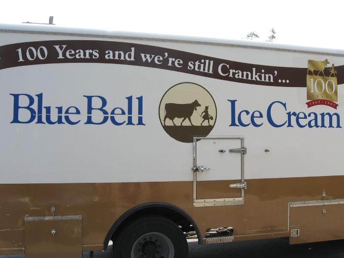 11. Blue Bell Ice Cream
