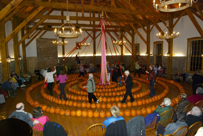 5. The town hosts a really interesting pumpkin party/festival?!