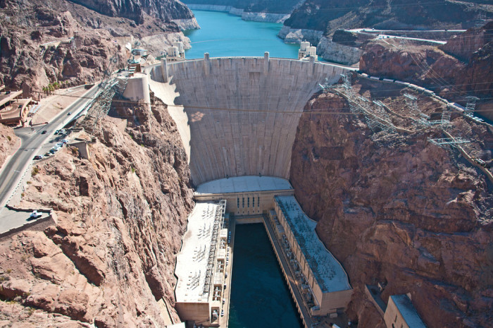 H is for Hoover Dam.