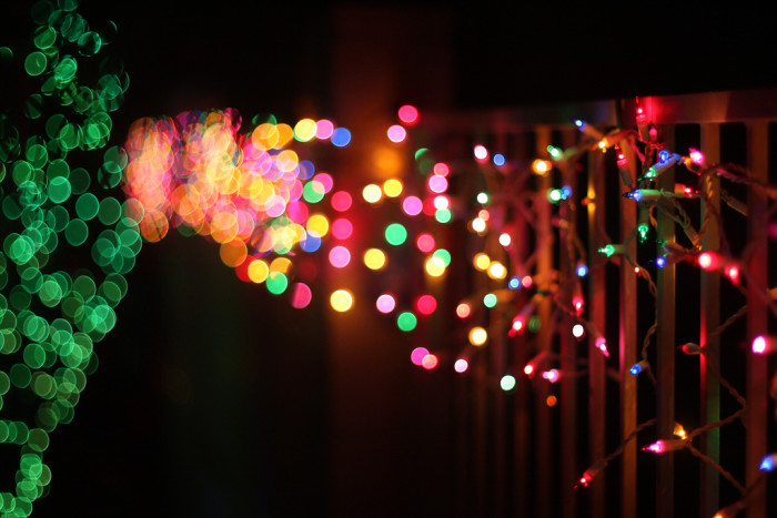 15. This time of year also means seeing twinkling lights everywhere: on houses, inside houses, in stores, etc.