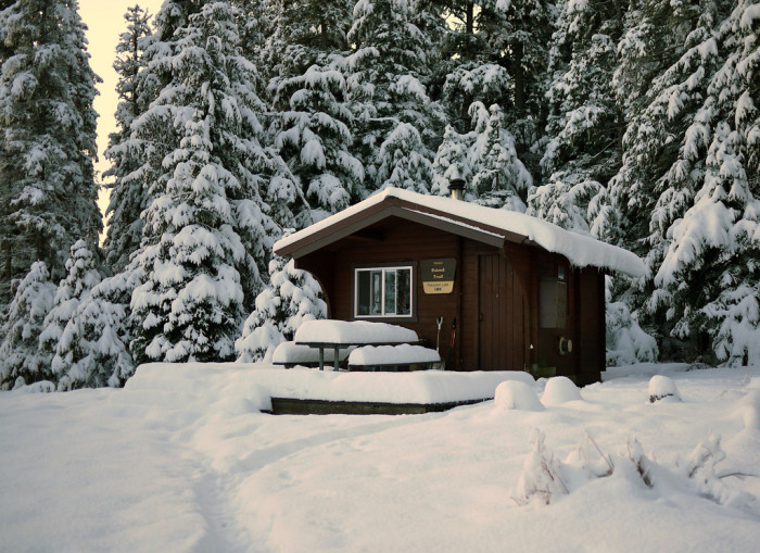 4) Stay in a Forest Service Cabin.